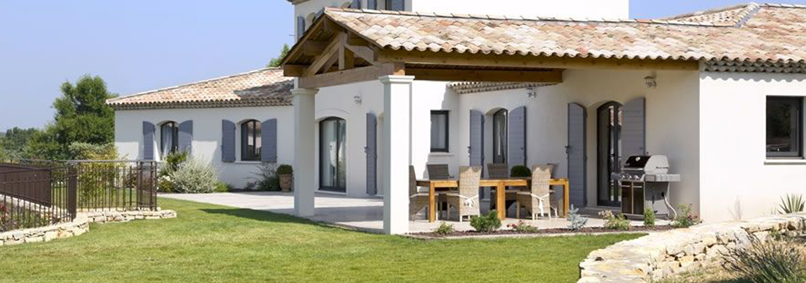 construction d'une villa provençale